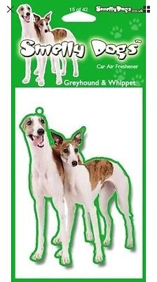 Greyhound And Whippet Air Freshener Tree Dog Cute Novelty Gift SALE