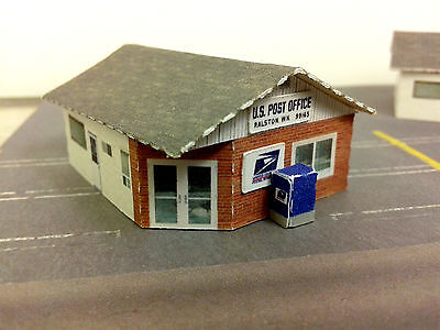 Z Scale Buildings (2 pc) - U.S. Post Office or Canada Post Office Card Stock Kit