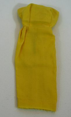 Vintage Barbie Yellow Seath Dress In Perfect Condition, 1960's, Clothes