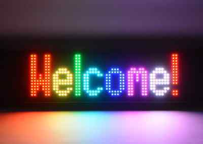 RGB SMS SIGNBOARD LED 80x12 SLIDING ADVERTISING PANEL CHANGING COLOUR