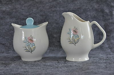 Steubenville Fairlane Creamer and Sugar Bowl with Lid