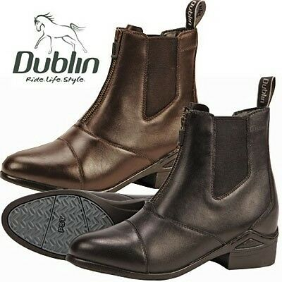 NEW Dublin Defy Front Zip Paddock Boots - Black & Brown - Many Sizes!!