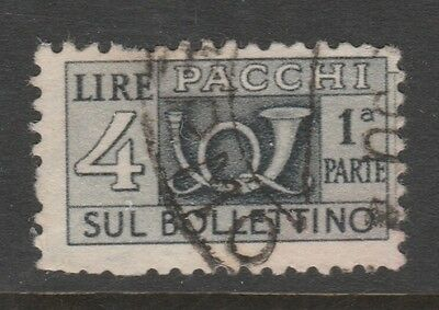 1946 ITALY PARCEL POST 4L GREY Stamp - USED