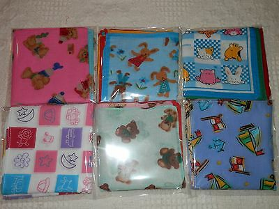 Boys 100% Cotton Handkerchiefs 6 Pack 25Cm X 25Cm