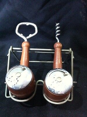 Retro Wooden Salt & Pepper Shakers