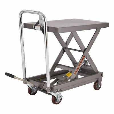 Rolling Table Cart 500LB Capacity Hydraulic Cart W/Foot Pump Dolly Heavy Duty