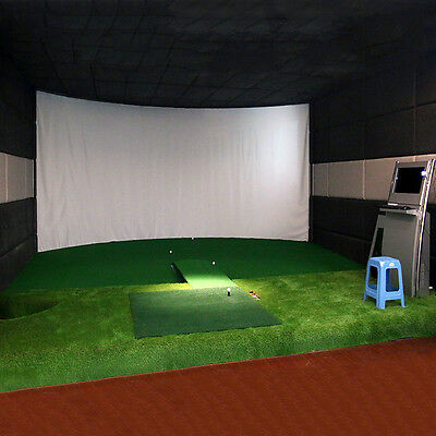 Golf Simulator Projector System Hitting Impact White Screen Cloth 9.8*9.8FT