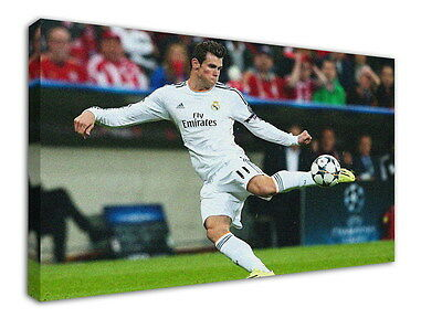 WK5 Gareth Bale Canvas Stretched Wood Framed 36x24inch Poster