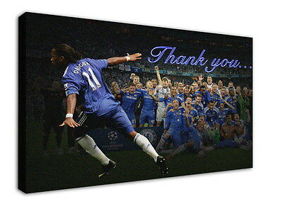WK-F375 (4) Drogba Canvas Stretched Wood Framed 36x24inch Poster