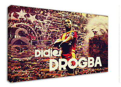 WK-F375 (15) Drogba Canvas Stretched Wood Framed 36x24inch Poster