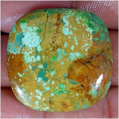 58.65Cts UNTREATED 100% NATURAL TIBET TURQUOISE CUSHION CABOCHON LOOSE GEMSTONES