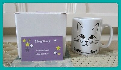 New Good Quality Printed mug with *Purr........fect* cat  theme!