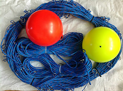 400ft Fishing longline with 75 clip on hook snoods 7 Mustad Hooks + Marker buoys