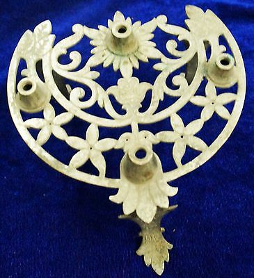 Antique Brass Or Bronze Islamic Candle Stand