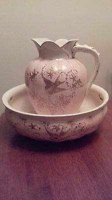 1880's Victorian Wash Bowl and Jug.