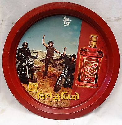 Old Carew's Imperial Whiskey Vintage Serving Advertising Tin Tray Collectibles