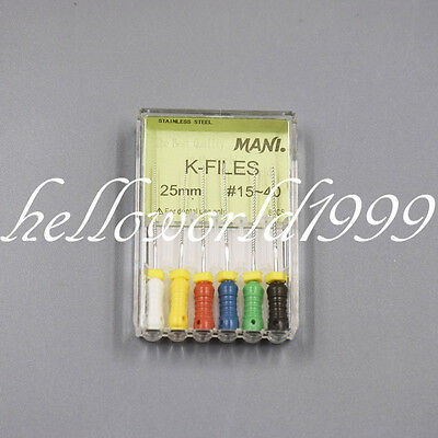 1 Pack MANI K-FILES Dental Steel Endodontic Hand Use Canal Files 25mm #15-40