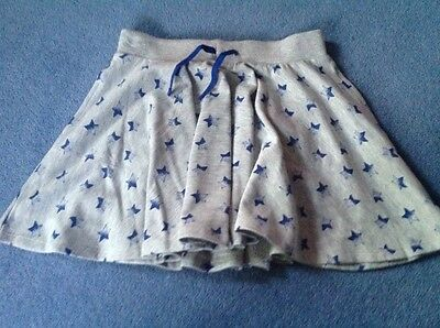 BNWT GREY AND BLUE STAR PRINT SKATER SKIRT AGE 13yrs