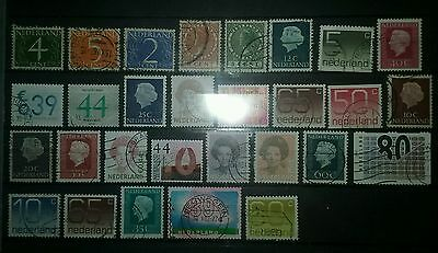 PAYS-BAS Vrac lot timbres obliteres