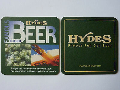 Hydes Brewery Famous For Our Beer Beermat Coaster
