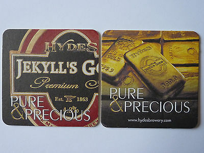 Hydes Brewery Jekyll's Gold Beermat Coaster