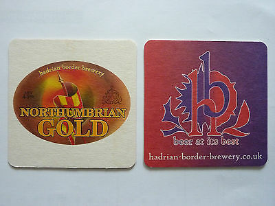 Hadrian And Border Brewery Northumbrian Gold Beermat Coaster