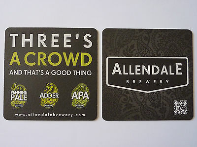 Allendale Brewery Three's A Crowd Beermat Coaster