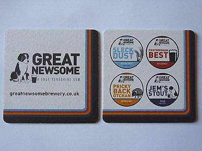 Great Newsome Brewery Beermat Coaster