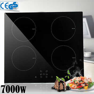 7000W Cookology Ceramic 59CM Hob Black Glass Electric Cooktop,Touch Controls