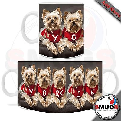 Yorkshire Terrier Dog MUG Personalised. Fun-Gift-Present-Occasions.Top Quality.