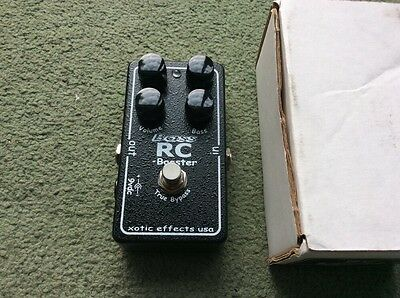 Xotic Effects Bass Rc Booster Mint Boxed Boost And Overdrive