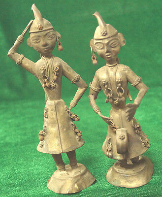 Antique Brass 2  Musical Lady Toys From India Size 16X18 Cms