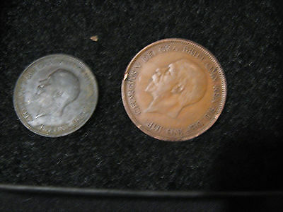 British penny and half penny 1928