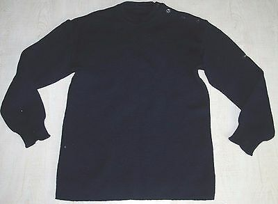 Rare Vintage Armor Lux Wool Jumper Sailing Fisherman Blue Navy Crew Neck S M