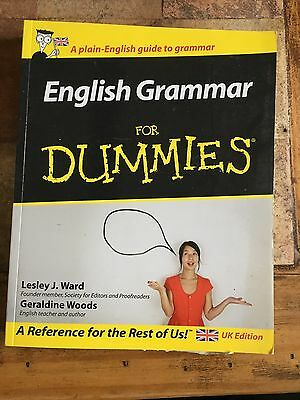 English Grammar For Dummies Softback 367 Pages Great Cond Can Post