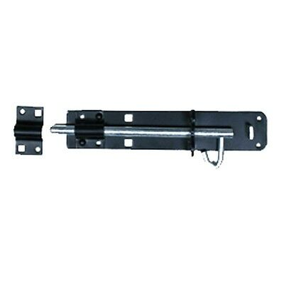 Slide Door Bolt Black Wrought Iron 6 L | Renovators Supply