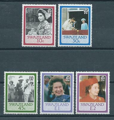 Swaziland SG500-504 1986 Queen Elizabeth's 60th Birthday Unhinged Mint