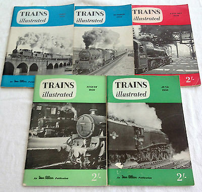 5 x 1959 EDITIONS TRAINS ILLUSTRATED