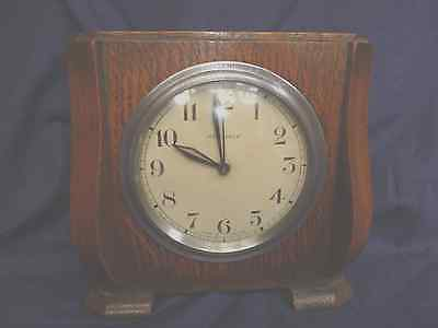 Vintage British Working Wooden Perivale Mantel Clock