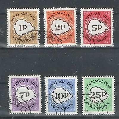 Ascension Island SG D1-6 Postage Dues VF Scarce USED