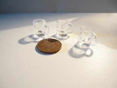 2 Dolls House Miniature Beer Glasses Bb