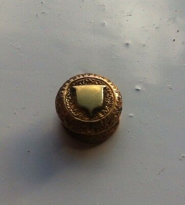 metal detecting finds Highly Decorated Gold Stud