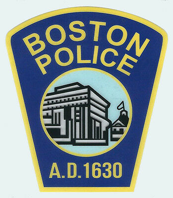 Boston Police Department Decal / Sticker ( 4 inches tall by 3 1/2 inches wide )