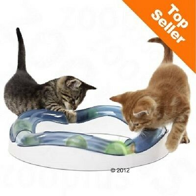 Cat Kitten Toy exciting game of chase illuminated ball roller coaster tracks