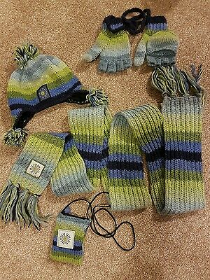 Pachamama Ladies Scarf, Hat, Gloves and Bag Set