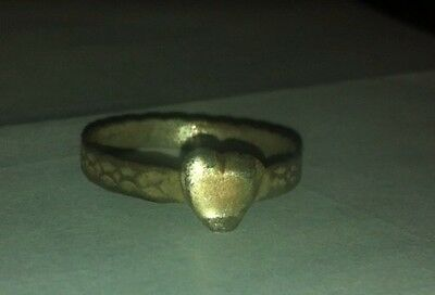 Silver Medieval Heart Ring metal detecting find