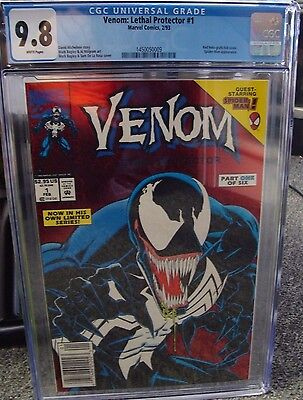 Venom Lethal Protector # 1 (1993) CGC 9.8 White Pages Red Foil Spider-Man Movie