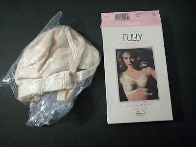 New VTG Exquisite Form FUL-LY BRA Camisole Strap Soft Cup Beige 38C Wire Free