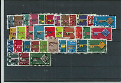 Europa 1968 Year Sets Pristne  Mnh 35 Vals