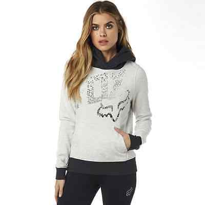 Fox Racing Womens Juniors Shaded Pullover Hoody LIGHT HEATHER GREY M
